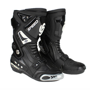 www.mensswaggerapparel.com Quick shipping low prices Biker Apparel & AccessoriesGenuine PRO-BIKER boots Speed Motorcycle botas moto Racing Road Race boots Shoes Knight Microfiber Leather Motorcycle boot