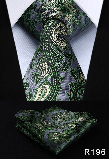 www.mensswaggerapparel.com Quick shipping low prices men's ties & bow ties Pocket Square Classic Party Wedding Men's Fashion Paisley 3.4