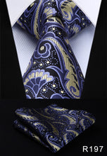"www.mensswaggerapparel.com Quick shipping low prices men's ties & bow ties Pocket Square Classic Party Wedding Men's Fashion Paisley 3.4""Silk Woven Wedding Men Tie Necktie Handkerchief Set"