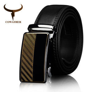 www.mensswaggerapparel.com Quick shipping low prices men's leather belts  Automatic Buckle Fashion business COW SKIN Leather belt