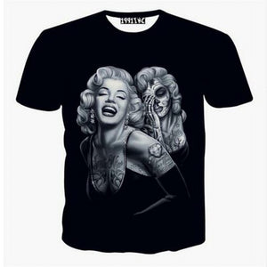 www.mensswaggerapparel.com Quick shipping low prices Mens T-Shirt & Hoodie Marilyn Monroe Men/Boy 3d t-shirt funny print money and gun sexy tops summer t-shirt fashion
