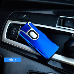 www.mensswaggerapparel.com Quick shipping low prices men's Gifts & Gadgets USB Thunder Lighter Rechargeable Electronic Lighter Cigarette Plasma Double Arc Palse Pulse Windproof car Gadgets