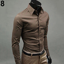 MSA Signature Spring Men's Casual Solid Candy Color Shirt Long Sleeve Slim Fit Men Cotton Anti-Wrinkling Shirt Top