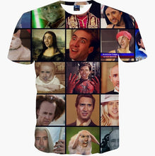 MSA SIgnature T-shirt men summer tops tees print Nicolas Cage Rage Animal stars slim 3d t-shirt short t shirt