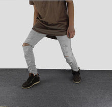 www.mensswaggerapparel.com Quick shipping low prices Men's Jeans & Pants White Ripped Jeans Men With Holes Super Skinny Famous Designer Brand Slim Fit Destroyed Jeans Pencil pants Slim zipper Jeans