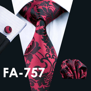 www.mensswaggerapparel.com Quick shipping low prices men's ties & bow ties Barry Wang Men`s Ties Yellow Paisley Silk Jacquard Tie Hanky Cufflinks Set Men's Business Gift Ties For Men