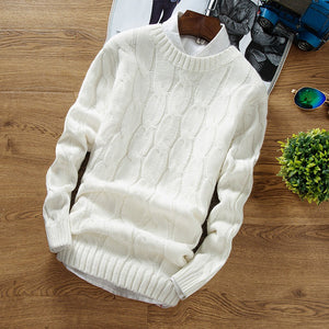 www.mensswaggerapparel.com Quick shipping low prices Men's Sweaters Winter Fashion Brand Casual Thick Sweater Slim Fit Knitting Mens Sweaters And Pullovers Pull Homme