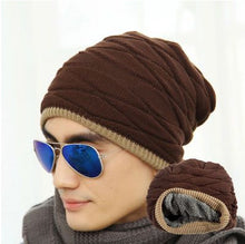 www.mensswaggerapparel.com Quick shipping low prices men's Hat's Velvet Beanies Warm Knitted Hat Man And Women Winter Hat Solid Color Elastic Two Styles Cap
