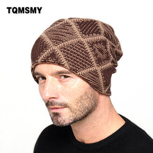 www.mensswaggerapparel.com Quick shipping low prices men's Hat'sNew brand Winter Beanies men Knitted wool hat Warm Soft Beanie Brown