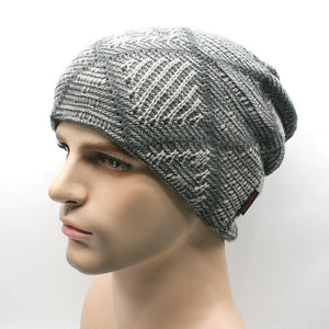 www.mensswaggerapparel.com Quick shipping low prices men's Hat'sNew brand Winter Beanies men Knitted wool hat Warm Soft Beanie Gray