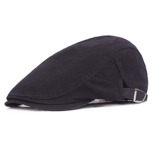 www.mensswaggerapparel.com Quick shipping low prices men's Hat's Beret Cap fashion Cotton Hat Fitted Driving Sun Hat Planas Flat Caps Adjustable Gorras Berets Black