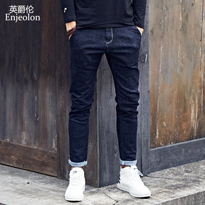 www.mensswaggerapparel.com Quick shipping low prices Men's Jeans & Pants Enjeolon brand top quality long full casual trousers jeans men, cotton clothing males Causal solid black blue jeans Pants KZ6140
