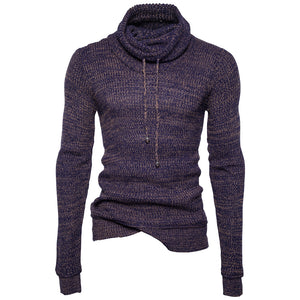 www.mensswaggerapparel.com Quick shipping low prices men's sweaters Pullover Men  Male Brand Casual Slim Fit Sweaters Men Rope Solid Color Hedging Heap Collar Men'S Sweater XXL
