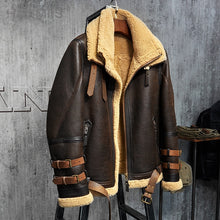 www.mensswaggerapparel.com Quick shipping low prices Winter Coats And Jackets  MSA Signature Shearling Jacket B3 Flight Jacket Imported Wool From Australia Short Leather Jacket Sheepskin Aviator Fur Coat