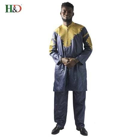 www.mensswaggerapparel.com Quick shipping low prices Traditional Attire African mens clothing traditional zipper riche africano hombres camisa con pantalones bordado camiseta pantalones dashiki