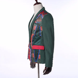 www.mensswaggerapparel.com Quick shipping low prices Traditional Attire  African clothing New Man Dashiki African Traditional National Wind Print Long Sleeve A Button Sundolic Suit