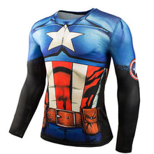 www.mensswaggerapparel.com Quick shipping low prices Mens T-Shirt Hot Sale 3D Superman Punisher T Shirt Fitness Compression Shirt Men Anime Bodybuilding Long Sleeve Crossfit Tops Tees