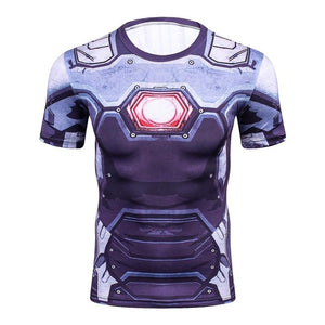 www.mensswaggerapparel.com Quick shipping low prices Mens T-Shirt & Hoodie 3D T-Shirt Marvel Superhero Spiderman Ironman T-Shirt Man Fitness tee Compression Shirt High elastic Tights