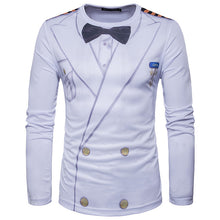 www.mensswaggerapparel.com Quick shipping low prices Mens T-Shirt & Hoodie  T-Shirts Brand Tuxedo Tees Homme Retro Tie Slim Fit Camisetas Men Long Sleeve Casual Tuxedo Shirt Tie B3720