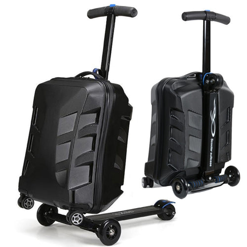 www.mensswaggerapparel.com Quick shipping low prices men's Gifts & Gadgets 21inch TSA Lock Scooter Luggage Aluminum Suitcase With Wheels Skateboard Rolling Luggage Travel Trolley Case