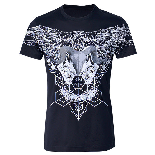 cotton short-sleeved T-shirt new Eagle summer tide fashion double strand mercerized cotton high quality size M L XLXXL 3XL