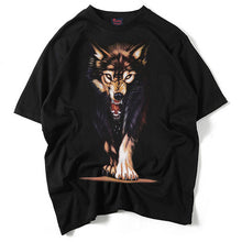 www.mensswaggerapparel.com Quick shipping low prices Mens T-Shirt & Hoodie 3d t-shirt men  summer new arrival 3D wolf printed man's T-shirt extended plus size  black t-shirt