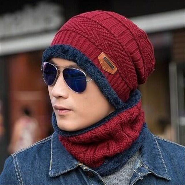 www.mensswaggerapparel.com Quick shipping low prices men's Hat's Neck warmer winter hat knit cap scarf cap Winter Hats knitted hat men