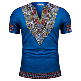 MSA Signature African dashiki clothes knitting stitching Batik printing short sleeve