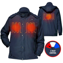 Winter Coats And Jackets Winter Electric Heated Jacket and Coat Kit for Men and Women with Detachable Hood and Battery Power