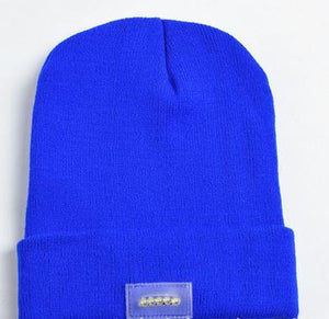 www.mensswaggerapparel.com Quick shipping low prices men's Hat's Beanie with 5 LED Lighted Cap, Beanie Knitted Caps Women's Hats Outdoor Sports Warm, Mountaineering Fishing Hat Blue