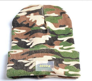 www.mensswaggerapparel.com Quick shipping low prices men's Hat's Beanie with 5 LED Lighted Cap, Beanie Knitted Caps Women's Hats Outdoor Sports Warm, Mountaineering Fishing Hat Camouflage
