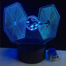 www.mensswaggerapparel.com Quick shipping low prices men's Gifts & Gadgets RC Star Wars 3D USB LED Lamp Toys Cartoon Tie Fighter Desk lamp Visual Night Light Table dimmer