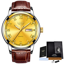 www.mensswaggerapparel.com Quick shipping low prices Men's Watches & Accessories LIGE Mens Watches Top Brand Luxury Leather Casual Quartz Watch Men Army Military Sports Quartz-watch Gold Watch Relogio Masculino