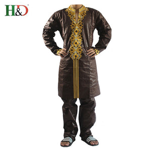 www.mensswaggerapparel.com Quick shipping low prices Traditional Attire  African men's clothing 2018 fashion new African man suits outwear African bazin riche embroidery men shirt with trouser