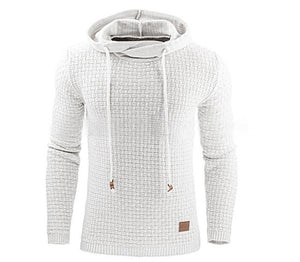 www.mensswaggerapparel.com Quick shipping low prices men's sweaters  New Brand 7 Solid Color Hooded Men's Sweater Winter Warm Knitted Pullover Men Plaid Pull Homme Plus EU Size S-3XL