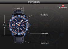 www.mensswaggerapparel.com Quick shipping low prices Men's Watches & AccessoriesNAVIFORCE Luxury Brand Men Fashion Sports Waterproof watches Men's Date Quartz Clock Man Leather Wrist Watch Relogio Masculino