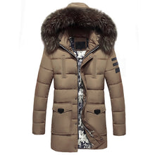 www.mensswaggerapparel.com Quick shipping low prices Winter Coats And Jackets  Winter Jackets Men  Fur Collar Over sized Long Parkas Men's Overcoats Thick Puffy Side Zipper Casual Hooded Jackets Coats