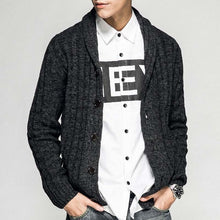 www.mensswaggerapparel.com Quick shipping low prices men's sweaters Cardigan Autumn Knitted Sweater Buttom Cardigan Casual Warm