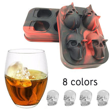 www.mensswaggerapparel.com Quick shipping low prices men's Gifts & Gadgets3D Skull Shape DIY Ice Cube Mold Silicone Ice Tray Fruit Ice Cube Ice Cream Maker Kitchen Bar Drinking Accessories 25