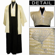 www.mensswaggerapparel.com Quick shipping low prices Traditional Attire  Beige New Vintage Japanese Men's Silk Satin Kimono Evening Dress Yukata Flowers one size