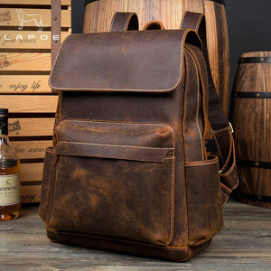 www.mensswaggerapparel.com Quick shipping low prices men's Leather Belts & Leather Bags  LAPOE Genuine Crazy Horse Leather Backpack Men Vintage mochila hombre teenage backpack travel bag school mochila hombre moda