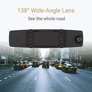 www.mensswaggerapparel.com Quick shipping low prices men's Gifts & Gadgets Mirror Dash Cam Dual Dashboard Camera Recorder Touch Screen Front Rear View HD Camera G Sensor Night Vision Parking Monitor