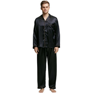 www.mensswaggerapparel.com Quick shipping low prices men's Gifts & Gadgets Men's Stain Silk Pajama Set Men Pajamas Silk Sleepwear Men