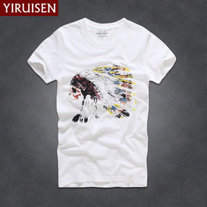 www.mensswaggerapparel.com Quick shipping low prices Mens T-Shirt & Hoodie YiRuiSen Brand Men Short Sleeve T-Shirt Men Casual 100% Cotton T-Shirt Tops Camisetas Hombre Camisa