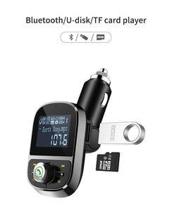 www.mensswaggerapparel.com Quick shipping low prices men's Gifts & Gadgets Car MP3 Player Bluetooth FM Transmitter Hands-free Car Kit Audio MP3 Modulator 1.44 Inch Display 2.1A USB Car Charger