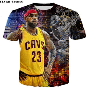 MSA Signature T-shirt Celebrities LeBron James Print 3D T shirt