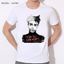 www.mensswaggerapparel.com Quick shipping low prices Mens T-Shirt & Hoodie Xxxtentacion Print T-shirt  Soft White Tee Shirt Homme  Fashion Tops Tee Look AT ME