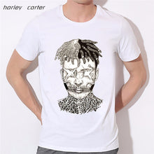 MSA SIgnature  Xxxtentacion Print T-shirt  Soft White Tee Shirt Homme  Fashion Tops Tee Look AT ME