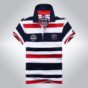 www.mensswaggerapparel.com Quick shipping low prices Mens T-Shirt & Hoodie Tace & Shark Polo Shirt Men Summer Men's Polo Homme Cotton Solid Striped Yachting Elegant Business Casual Shark Polo Men