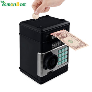 www.mensswaggerapparel.com Quick shipping low prices men's Gifts & Gadgets Electronic Piggy Bank ATM Password Money Box Cash Coins Saving Box ATM Bank Safe Box Automatic Deposit Banknote